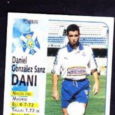 Cromos de Fútbol: PANINI 98 99 1998 1999 SIN PEGAR DANI TENERIFE 304A. Lote 288636358