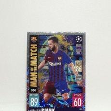 Cromos de Fútbol: MATCH ATTAX 2021 2022 21 22 CROMO TOPPS FUTBOL N 400 BARCELONA MIRALEM PJANIC. Lote 288640978