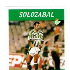 Cromos de Fútbol: CROMO FUTBOL 97 98 NUNCA PEGADO PANINI LIGA 1997 1998 BETIS SOLOZABAL. Lote 288641518