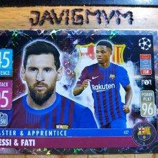 Cromos de Fútbol: MATCH ATTAX CHAMPIONS 2021 2022 21 22 TOPPS BARCELONA Nº 427 MESSI ANSU FATI. Lote 288643338