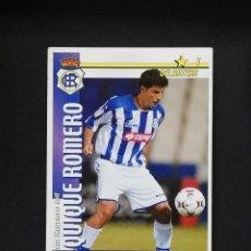 Cromos de Fútbol: REC QUIQUE ROMERO RECREATIVO DE HUELVA 2002 2003 FUTBOL MATCH TOTAL LIGA MAGIC BOX 02 03. Lote 288701463