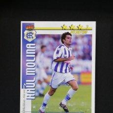 Cromos de Fútbol: REC RAUL MOLINA RECREATIVO DE HUELVA 2002 2003 FUTBOL MATCH TOTAL LIGA MAGIC BOX 02 03. Lote 288701633