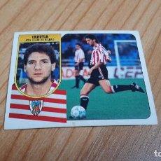 Cromos de Fútbol: URRUTIA -- ATHLETIC BILBAO -- 91/92 -- ESTE -- NUNCA PEGADO. Lote 288702598