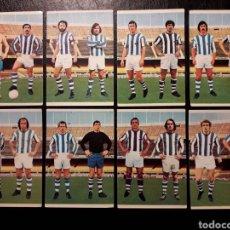 Cromos de Fútbol: 8 CROMOS REAL SOCIEDAD RUIZ ROMERO 75 76 1975 1976. EQUIPO COMPLETO. SIN PEGAR. VER FOTOS. Lote 288745698