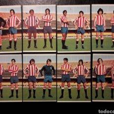 Cromos de Fútbol: 8 CROMOS SPORTING DE GIJÓN RUIZ ROMERO 75 76 1975 1976. EQUIPO COMPLETO. SIN PEGAR. VER FOTOS. Lote 288745748