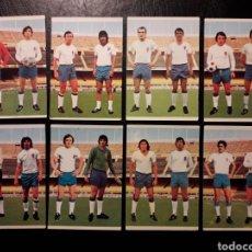 Cromos de Fútbol: 8 CROMOS ZARAGOZA RUIZ ROMERO 75 76 1975 1976. EQUIPO COMPLETO. SIN PEGAR. FOTOS FRONTAL Y TRASERA. Lote 288746003