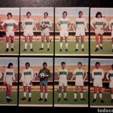 Cromos de Fútbol: 8 CROMOS ELCHE RUIZ ROMERO 75 76 1975 1976. EQUIPO COMPLETO. SIN PEGAR. VER FOTOS FRONTAL Y TRASERA. Lote 288746123