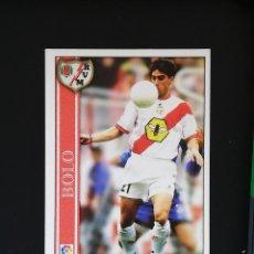 Cromos de Fútbol: #189 BOLO RAYO VALLECANO LAS FICHAS DE LA LIGA 2001 MUNDICROMO. Lote 288862043
