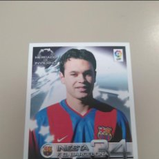 Fußball-Sticker: RESERVED MORGAN - INIESTA ROOKIE 2002-2003. PANINI SUPERLIGA Nº419 PERFECTO ESTADO SIN PEGAR. Lote 289012338