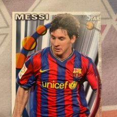 Cromos de Fútbol: MUNDICROMO 2011 SUPER STAR MESSI 025 BARCELONA. Lote 289013623