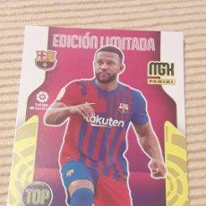 Cromos de Fútbol: DEPAY (TOP FICHAJE EDICION LIMITADA) FC BARCELONA MEGACRACKS 21-22 2021 2022. MGK PANINI. Lote 289020328