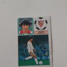 Cromos de Fútbol: BLANCO SEVILLA CROMO TARJETA CARTÓN FUTBOL LIGA 1983-1984 83-84 EDICIONES ESTE. Lote 289315833