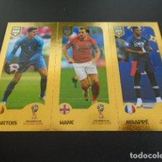 Cromos de Fútbol: 415 MBAPPE HARRY KANE COURTOIS VERSION BLUE BACK STICKER FIFA 365 18 19 2018 2019. Lote 289543248