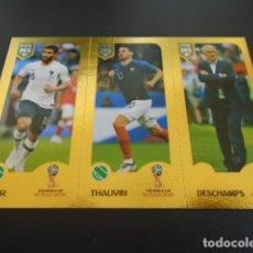 Cromos de Fútbol: 411 FEKIR THAUVIN DESCHAMPS VERSION BLUE BACK STICKER FIFA 365 18 19 2018 2019. Lote 289544168