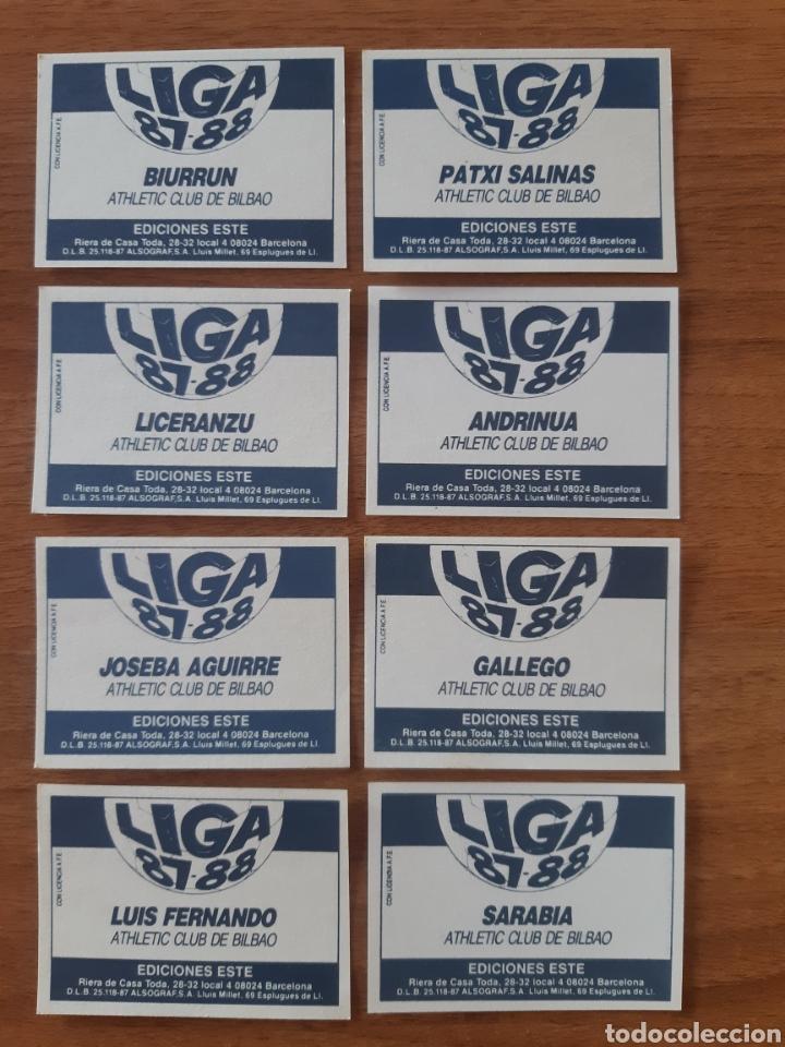 Cromos de Fútbol: Lote de 8 cromos diferentes Athletic Bilbao liga 87-88 ESTE. Nunca pegados, nuevos - Foto 2 - 289592743