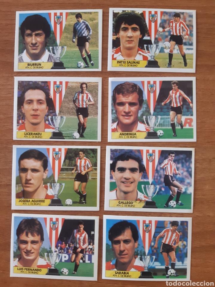 LOTE DE 8 CROMOS DIFERENTES ATHLETIC BILBAO LIGA 87-88 ESTE. NUNCA PEGADOS, NUEVOS (Coleccionismo Deportivo - Álbumes y Cromos de Deportes - Cromos de Fútbol)