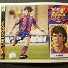 Cromos de Fútbol: NADAL DEL BARCELONA ALBUM ESTE LIGA 1997 - 1998 ( 97 - 98 ). Lote 289622248