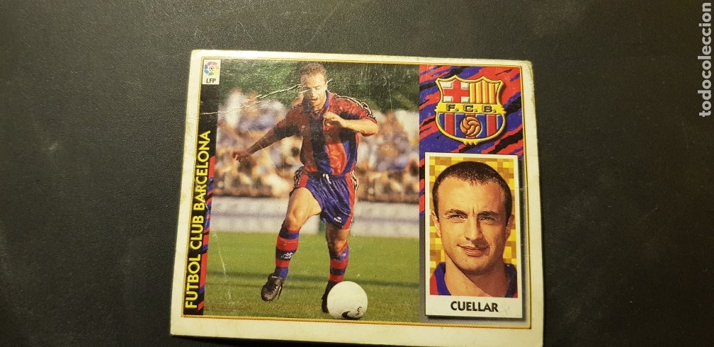 CUELLAR BAJA DEL BARCELONA ALBUM ESTE LIGA 1997 - 1998 ( 97 - 98 ) (Coleccionismo Deportivo - Álbumes y Cromos de Deportes - Cromos de Fútbol)
