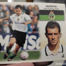 Cromos de Fútbol: MUNITIS RACING SANTANDER ED ESTE CROMO SIN PEGAR NUNCA LIGA 1999 99 2000 00. Lote 289701098