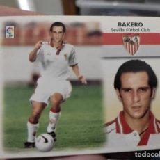 Cromos de Fútbol: BAKERO COLOCA SEVILLA ED ESTE CROMO SIN PEGAR NUNCA LIGA 1999 99 2000 00. Lote 289740548