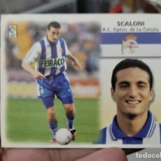Cromos de Fútbol: SCALONI DEPORTIVO CORUÑA ED ESTE CROMO SIN PEGAR NUNCA LIGA 1999 99 2000 00. Lote 289742533