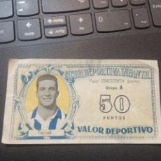 Cromos de Fútbol: TERUEL ESPAÑOL FICHA DEPORTIVA INFANTIL 1943 1944 LIGA CROMO FUTBOL 43 44 - 50 PUNTOS. Lote 290103833