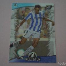 Cromos de Fútbol: TRADING CARD DE FUTBOL WELIGTON DEL MALAGA C.F. Nº 143 LIGA MUNDICROMO 2013-2014/13-14. Lote 290105623
