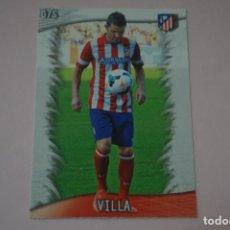 Cromos de Fútbol: TRADING CARD DE FUTBOL DAVID VILLA DEL ATLETICO DE MADRID Nº 75 LIGA MUNDICROMO 2013-2014/13-14. Lote 290106153