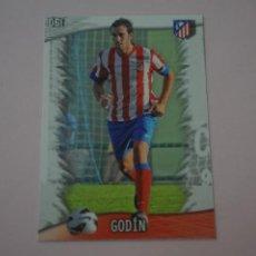 Cromos de Fútbol: TRADING CARD DE FUTBOL GODIN DEL ATLETICO DE MADRID Nº 61 LIGA MUNDICROMO 2013-2014/13-14. Lote 290106343