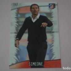 Cromos de Fútbol: TRADING CARD DE FUTBOL SIMEONE DEL ATLETICO DE MADRID Nº 57 LIGA MUNDICROMO 2013-2014/13-14. Lote 290106463
