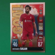 Cromos de Fútbol: 60 SALAH (GOAL MACHINE) - LIVERPOOL - TOPPS MATCH ATTAX 21/22 (NUEVO). Lote 290146728