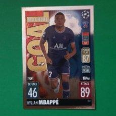 Cromos de Fútbol: 151 MBAPPÉ (GOAL MACHINE) - PARIS SAINT-GERMAIN - TOPPS MATCH ATTAX 21/22 (NUEVO). Lote 290147003