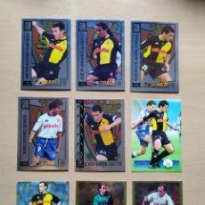 Cromos de Fútbol: LOTE 9 CROMOS ZARAGOZA EQUIPO COMPLETO CEDRUN PARDEZA TOP LIGA 2001 2002 01 02 MUNDICROMO. Lote 290624938