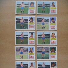 Cromos de Fútbol: SPORTING GIJON LOTE 11 CROMOS LIGA 1973-1974 ,73-74 FHER NUNCA PEGADO. Lote 290698598