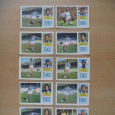 Cromos de Fútbol: REAL SOCIEDAD LOTE 11 CROMOS LIGA 1973-1974 ,73-74 FHER NUNCA PEGADO. Lote 290699018