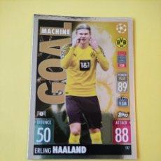 Cromos de Futebol: 187 - HAALAND GOAL MACHINE - BORUSSIA DORTMUND - TOPPS MATCH ATTAX 2021 - 2022. Lote 293187748