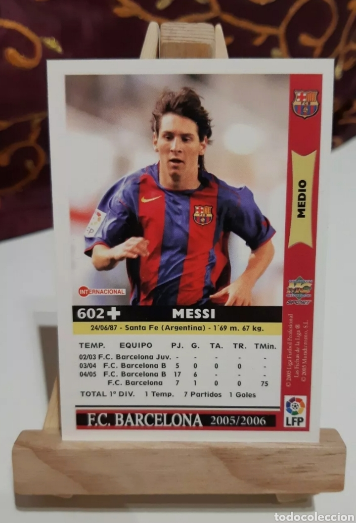 Cromos de Fútbol: MESSI 2005-2006 (2° AÑO ROOKIE) MUNDICROMO. - Foto 4 - 293543838