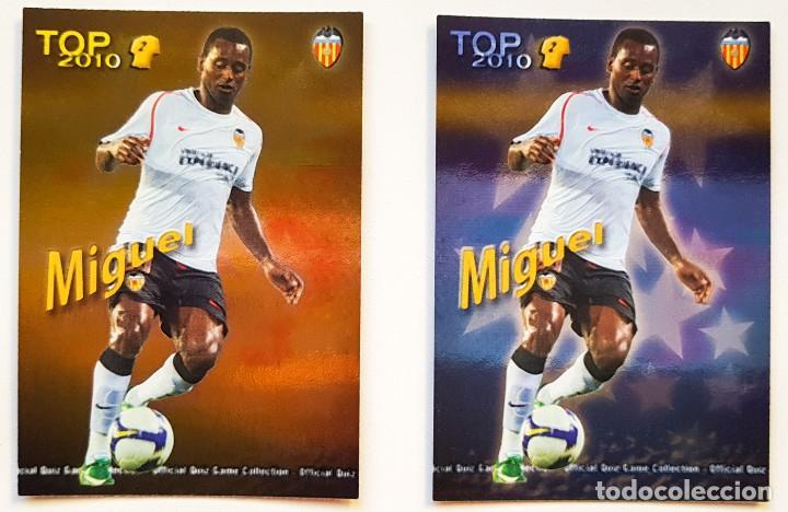 2 CROMOS MIGUEL - VALENCIA - TOP 2010 MUNDICROMO QUIZGAME 2009 2010 09 10 - NUEVOS (Coleccionismo Deportivo - Álbumes y Cromos de Deportes - Cromos de Fútbol)