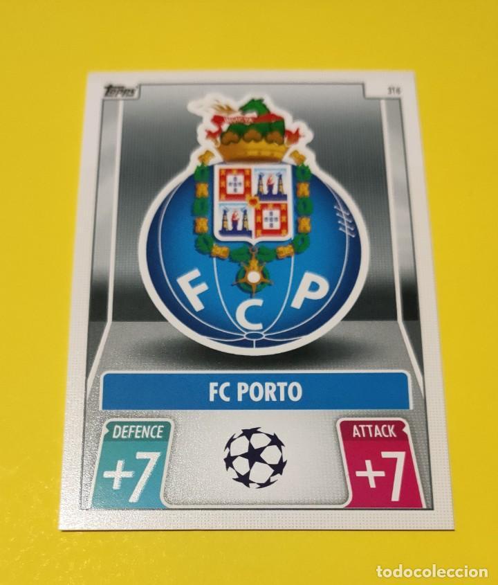 ESCUDO DEL OPORTO. TOPPS MATCH ATTAX 2022 (Coleccionismo Deportivo - Álbumes y Cromos de Deportes - Cromos de Fútbol)