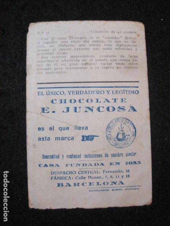 Cromos de Fútbol: ROBUS-ARENAS FC-CROMO DE FUTBOL-CHOCOLATE JUNCOSA-VER FOTOS-(84.967) - Foto 3 - 293668778