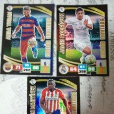 Cromos de Fútbol: ADRENALYN 2015-16 SERIE TIN-BOX JAMES RODRÍGUEZ, ARDA TURAN Y JACKSON MARTINEZ LOS DE LA FOTO. Lote 293885103