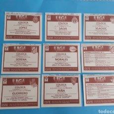 Cromos de Fútbol: LOTE COLOCA SALVA SERENA LOPEZ VLAOVIC GUERRERO MORALES PEÑA FICHAJE 1 Y 3. Lote 293925058