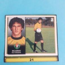 Cromos de Fútbol: RICARDO FICHAJE 21 REAL VALLADOLID CROMO ALBUM ESTE 1998 1999 RECORTADO. Lote 293928718
