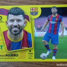 Figurine di Calcio: CROMO FUTBOL N° 1 AGUERO ULTIMOS FICHAJES - BARCELONA - LIGA ESTE 2021 2022 21/22 ADN. Lote 294147823