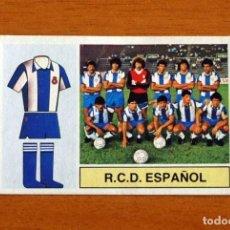 Cromos de Fútbol: R.C.D. ESPAÑOL, ESPANYOL - ALINEACIÓN, EQUIPO - EDICIONES ESTE 1982-1983, 82-83 - CROMO NUNCA PEGADO. Lote 294380728