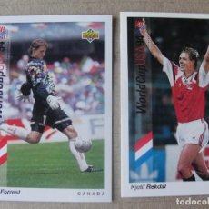 Cromos de Fútbol: WORLD CUP USA 94 UPPER DECK - 171 NORGE - REKDAL - TRADING CARD SIN USO, NUEVO. Lote 294860618