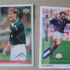 Cromos de Fútbol: WORLD CUP USA 94 UPPER DECK - 59 SCOTLAND - ALLY MCCOIST - SIN USO. Lote 294860893