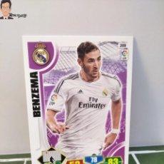 Cromos de Fútbol: BENZEMA Nº 209 (REAL MADRID) CROMO TARJETA CARD FICHA ADRENALYN PANINI 2013 2014 13 14. Lote 294977168