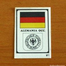Cromos de Fútbol: ALEMANIA OCCIDENTAL - 1 BANDERA, ESCUDO - MUNICH 1974 - EDITORIAL RUIZ ROMERO - NUNCA PEGADO. Lote 295290178