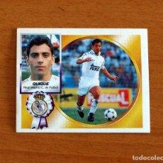 Cromos de Fútbol: REAL MADRID - QUIQUE - FICHAJE Nº 8 - VERSIÓN - EDICIONES ESTE 1994-1995, 94-95 - NUNCA PEGADO. Lote 295290978